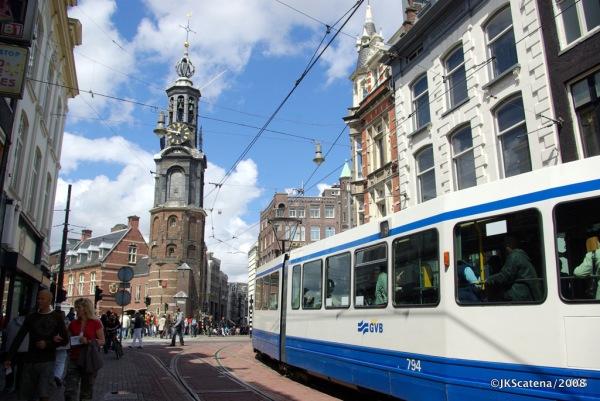 Amsterdam: Tram @ Reguliersbreestraat