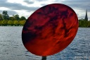 Anish Kapoor @ Kensington Gardens: Sky Mirror, Red, 2