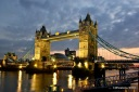 London: Tower Bridge at dusk