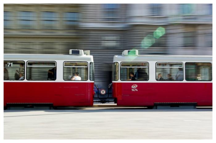 Vienna: Tram panning
