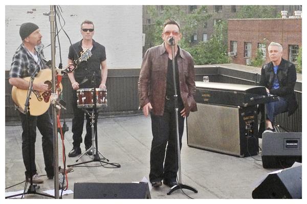 U2 @ Electric Lady Studios, NYC