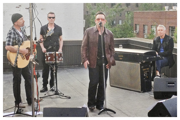 U2 @ Electric Lady Studios, NYC